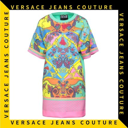 【Versace Jeans Couture】ペイズリープリント Tシャツ ドレス