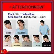 ATTENTIONROW(アテンションロー) Tシャツ・カットソー [ATTENTIONROW] Front Stitch Embroidery Semi Overfit T/追跡付