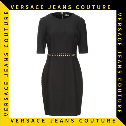 【Versace Jeans Couture】スタッズ ウエストマーク ミニドレス