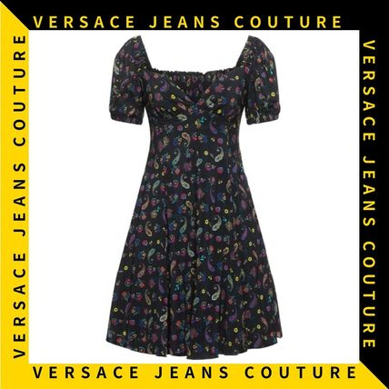 【Versace Jeans Couture】シフォン ペイズリープリント ドレス