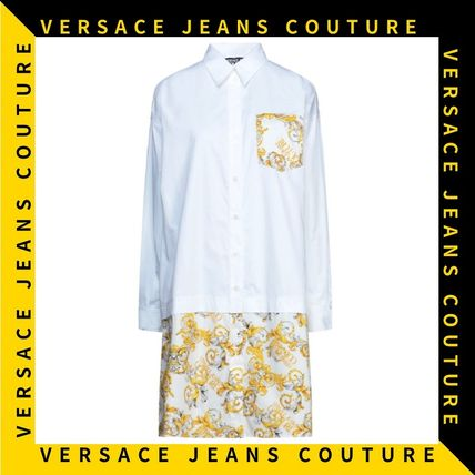 【Versace Jeans Couture】ロゴプリント シャツ ミニドレス
