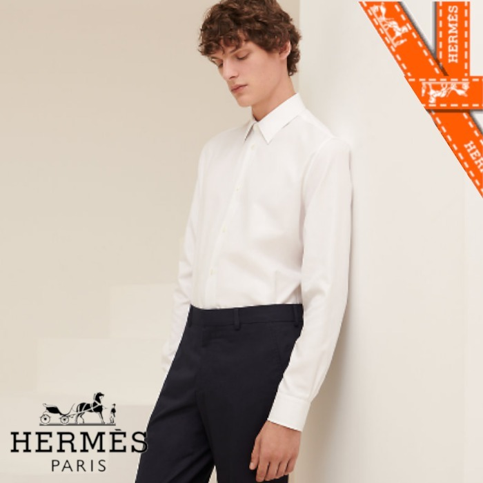21SS【エルメス】Chemise corps ajuste col Faubourg (HERMES/シャツ) H156000H29039