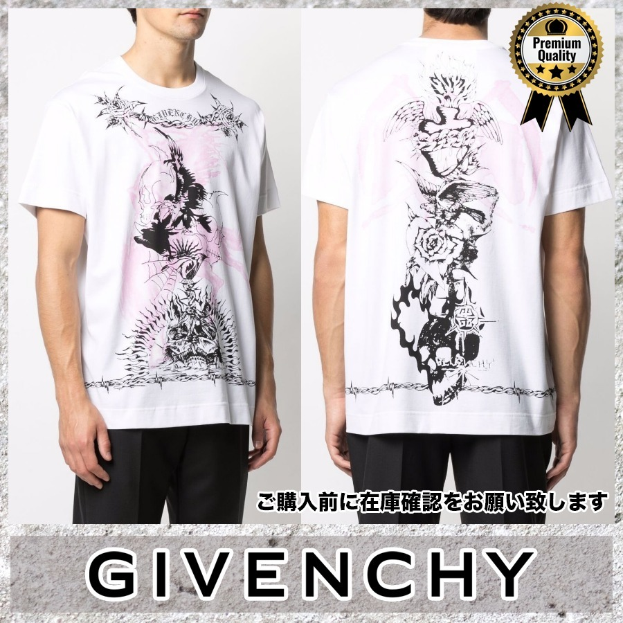 Givenchy◆SALE! 大きめ ロゴ 半袖 TシャツBew86 (GIVENCHY/Tシャツ・カットソー) 70398556