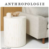 Anthropologie Rounded Inlay Drum Side Table Sサイス