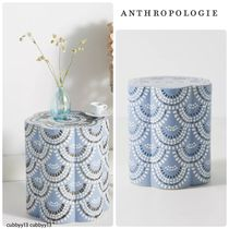 Anthropologie Scalloped Ceramic Side Table 爽やか◎