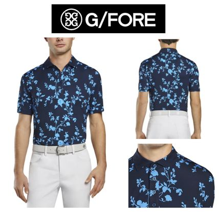【G FORE】FLORAL ゴルフ ポロシャツ‐TWILIGHT