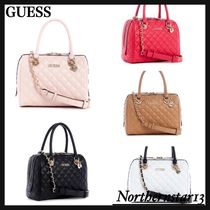 【GUESS】Illy Quilted Box Satchel*可愛いキルトデザイン/各色