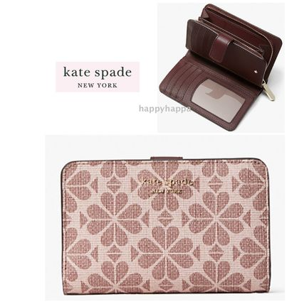 【kate spade】spade flower coated canvas compact wallet