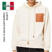 Loewe  Anagram patch hoodie in cotton