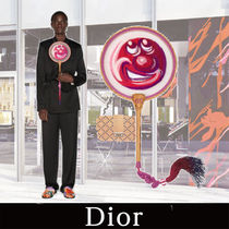 DIOR 21AW新作 DIOR AND KENNY SCHARF FAN Pink