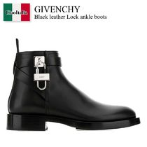 Givenchy Black leather Lock ankle boots
