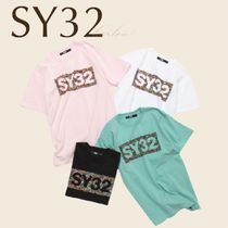 SY32 Tシャツ トップス ロゴ メンズ 新作 直営店買付 関税込み