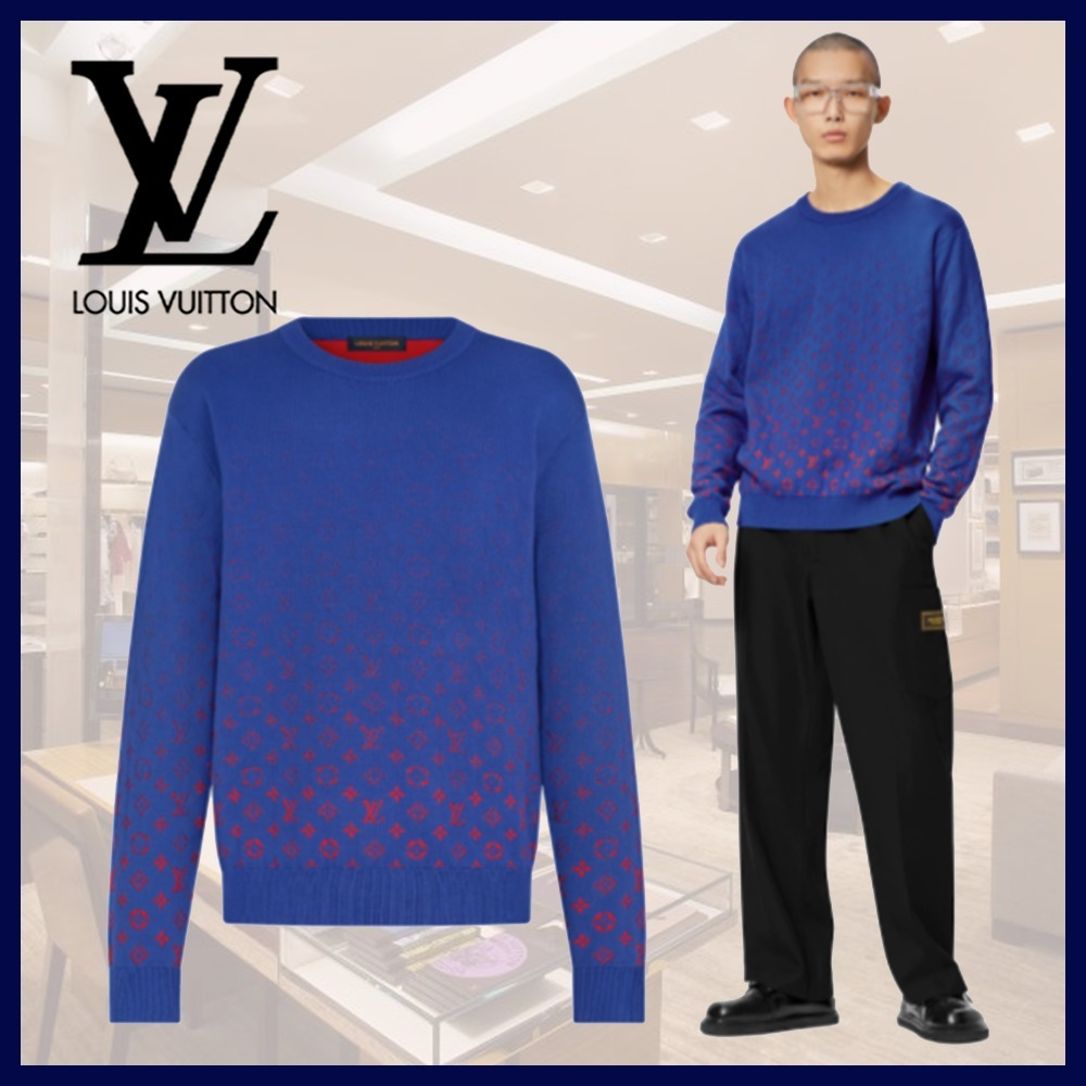 21FW☆ルイヴィトン☆セーター LVSE モノグラム クルーネック (Louis Vuitton/ニット・セーター) 1A8WO3  1A8WO4  M1A8WO5