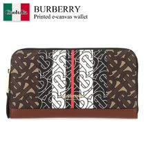 Burberry Printed e-canvas wallet