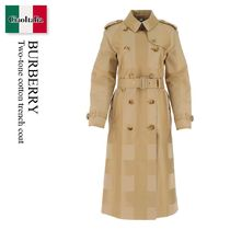 Burberry Two-tone cotton trench coat