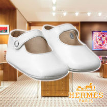 HERMES 20SS Cheval a Bascule booties White Leather シューズ