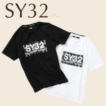 SY32 トップス Tシャツ ボックス ロゴ 男 直営店買付 関税込み