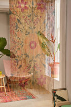 【BN3172】Urban Outfitters Floral 竹製ビーズカーテンパネル