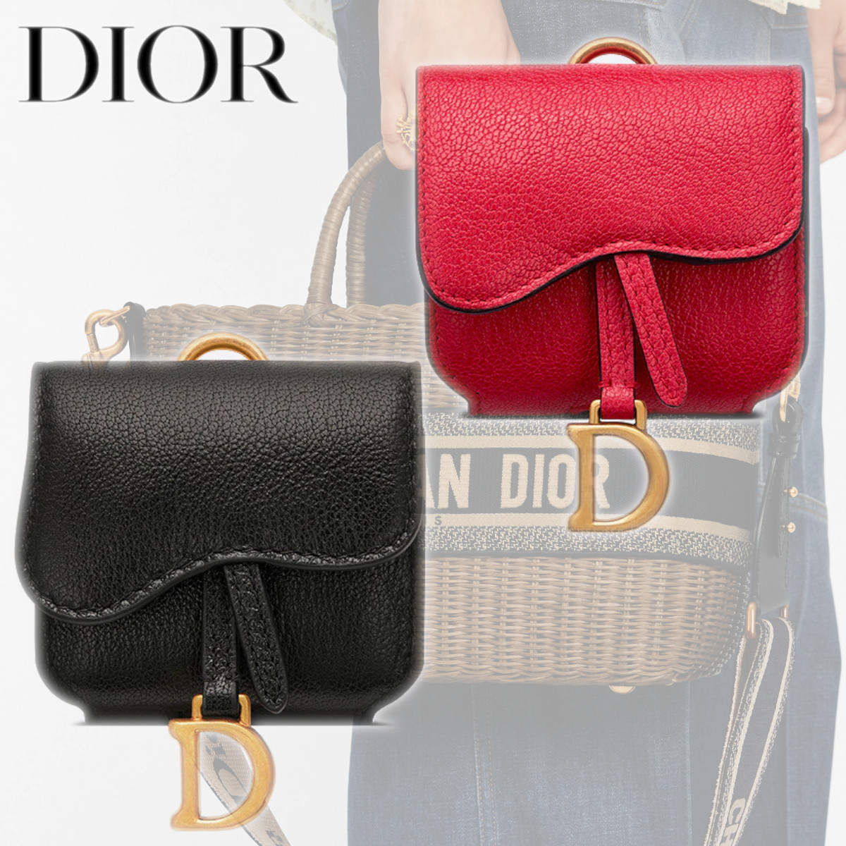 DIOR SADDLE AIRPODS PROケース ゴートスキン 無地 ロゴ 大人気 (Dior/スマホケース・テックアクセサリーその他) S5675CCEH_M14F  S5675CCEH_M900