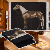 HERMES 20AW Cheval Palomino blanket Cashmere ブランケット