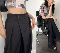 Raucohouse wide tuck banding tailored pants