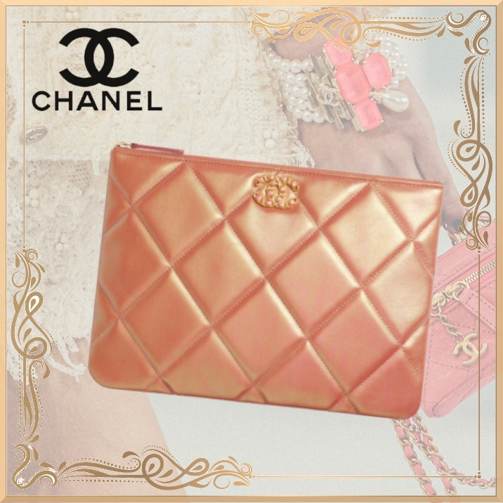 21SS!【CHANEL】CHANEL19 ポーチ カーフスキン ピンク (CHANEL/ポーチ) AP0951 B05092 NB805