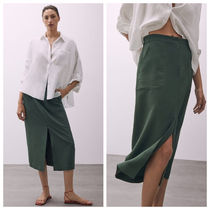 Massimo Dutti【NEW】PENCIL SKIRT WITH FRONT SLIT