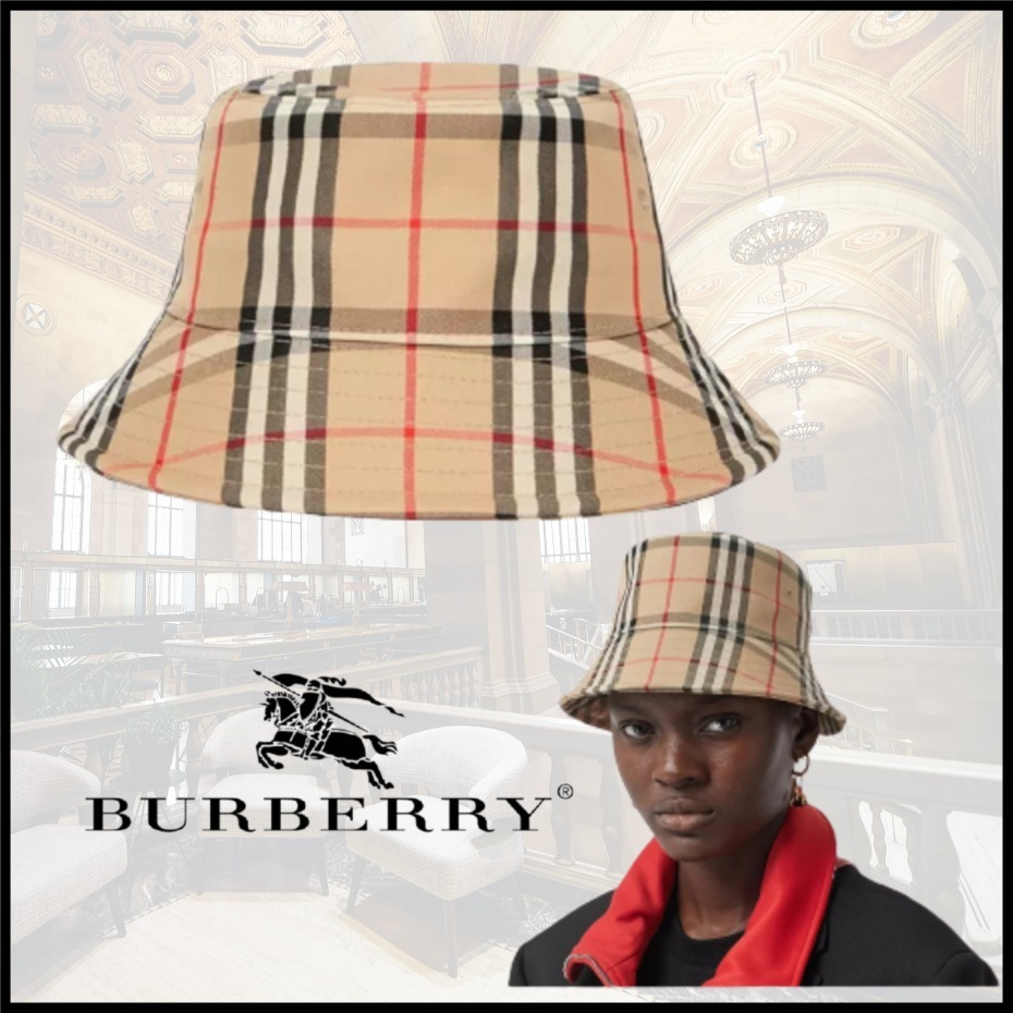 【Burberry】ヴィンテージチェック バケットハット 関税込 (Burberry/ハット) 80269271