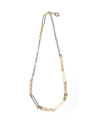 """NEW/全て込み◆ G Link"""" necklace in shiny metal"""