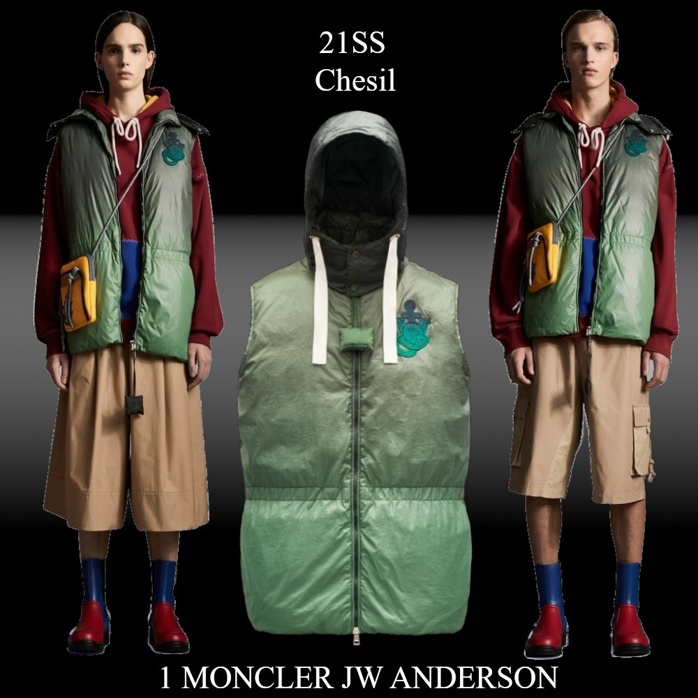 21SS★新作★1 MONCLER JW ANDERSON★Chesil ダウンベスト (MONCLER/ダウンベスト) G109E1A52360M1179823