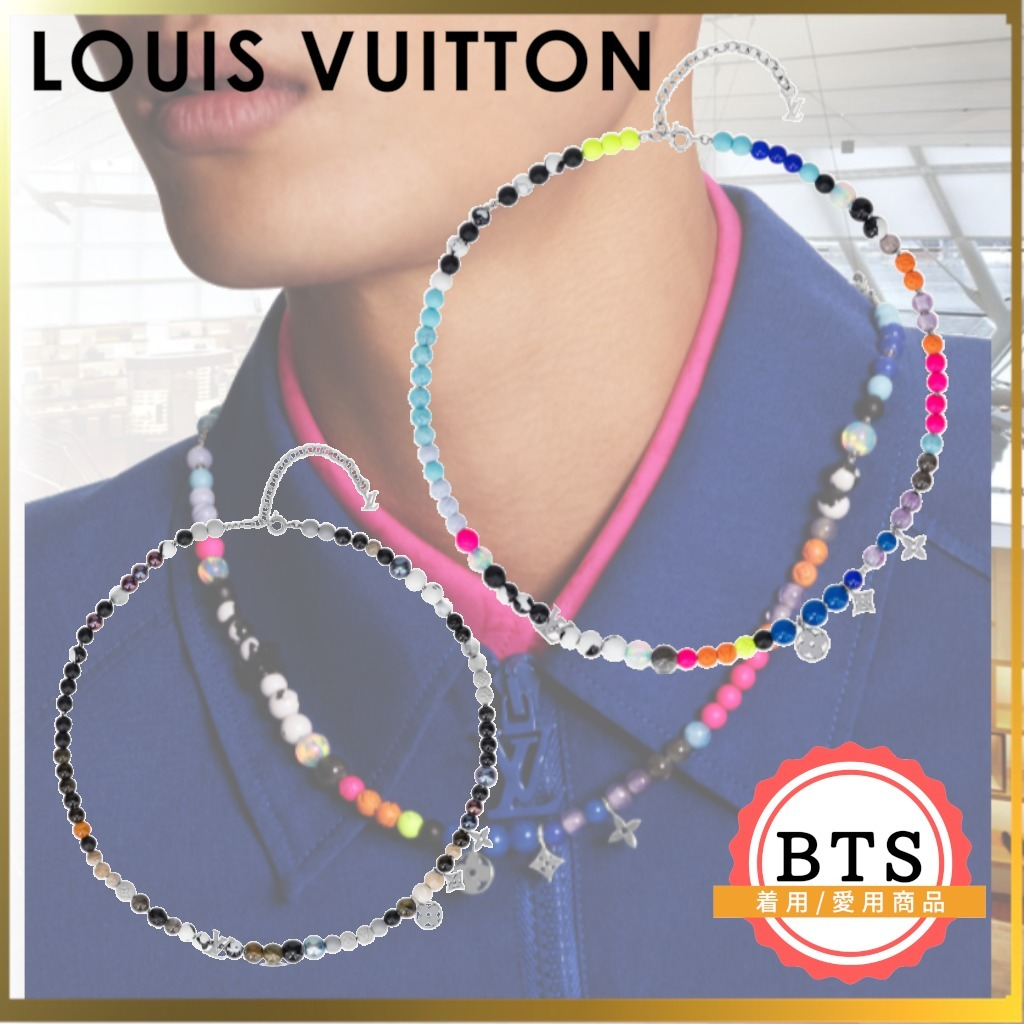 BTS着用アイテム ルイヴィトン コリエ・ビーズ ネックレス 希少 (Louis Vuitton/ネックレス・チョーカー) MP2937  MP2936
