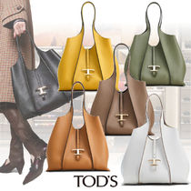TOD'S(トッズ) トートバッグ 新作!TOD´S タイムレス ロゴ ショッピングバッグ/トートバッグ