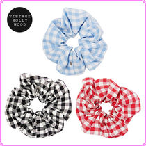 【VINTAGE HOLLYWOOD】Carrie Gingham Check Scrunchie~シュシュ