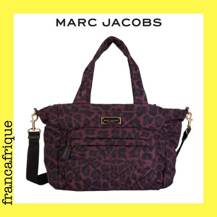 MARC JACOBS☆Quilted Nylon☆マザーズバッグ☆レオパード☆赤