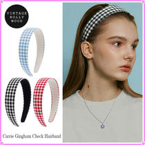 【VINTAGE HOLLYWOOD】Carrie Gingham Check~カチューシャ★21SU
