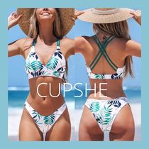 ☆CUPSHE☆Leafy Strappy Reversible リーフ柄ビキニセット