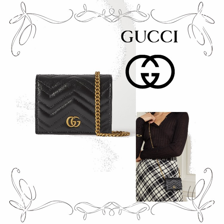 NEW!★グッチ★GG Marmont quilted leather shoulder bag (GUCCI/財布・小物その他) 70601591