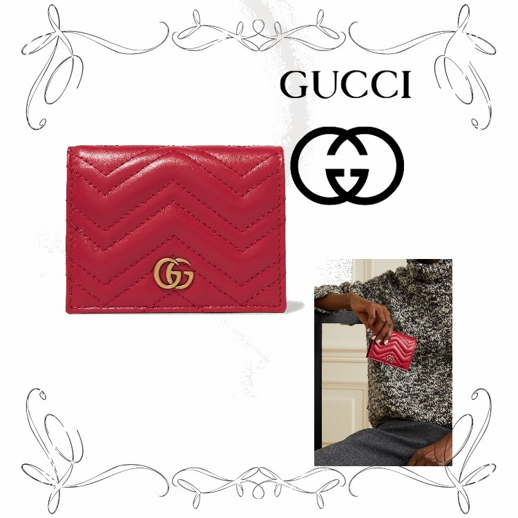 NEW!★グッチ★GG Marmont small quilted leather wallet (GUCCI/財布・小物その他) 70601609