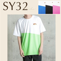 SY32 トップス Tシャツ バイカラー ロゴ 男 直営店買付 関税込み