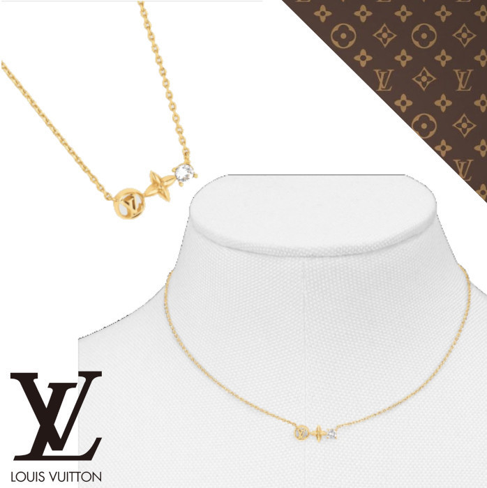 21AW【ルイヴィトン】コリエ・プティ ルイ ネックレス (Louis Vuitton/ネックレス・ペンダント) M00368