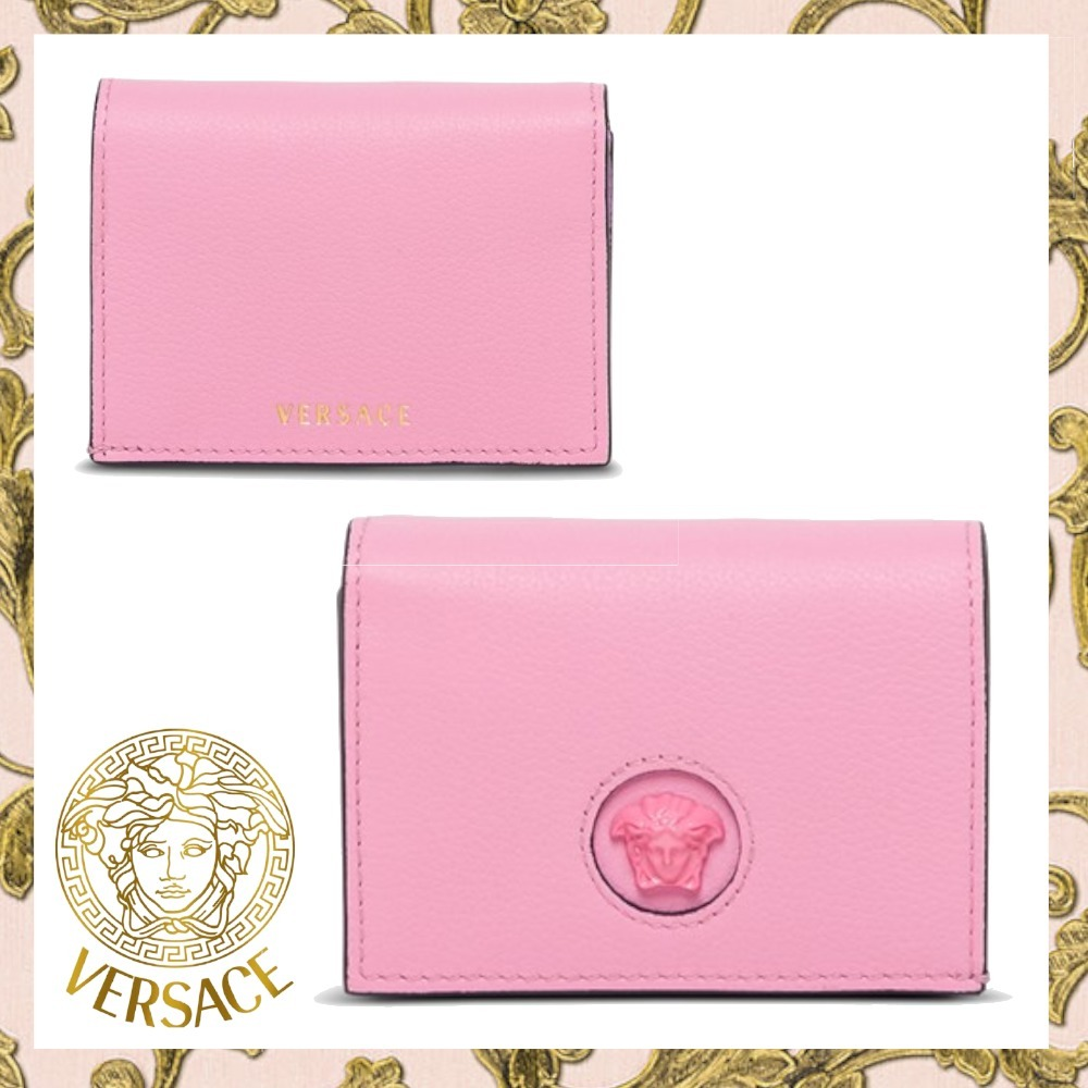 【VERSACE】ロゴ カードケース ピンク レディースメドゥーサ (VERSACE/カードケース・名刺入れ) 70629370