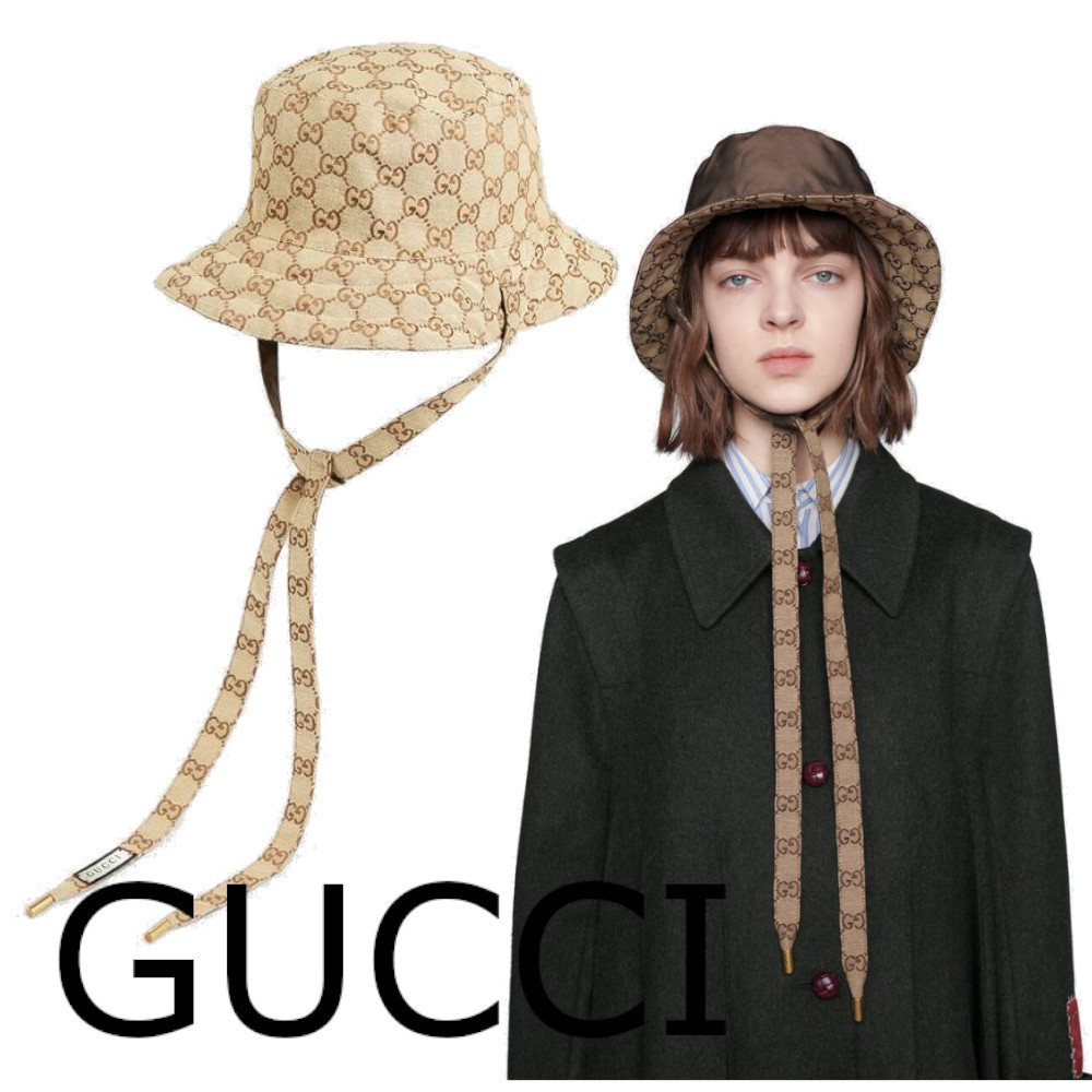 【GUCCI】GGキャンバス&ナイロン リバーシブルハット グッチ (GUCCI/ハット) 70632238