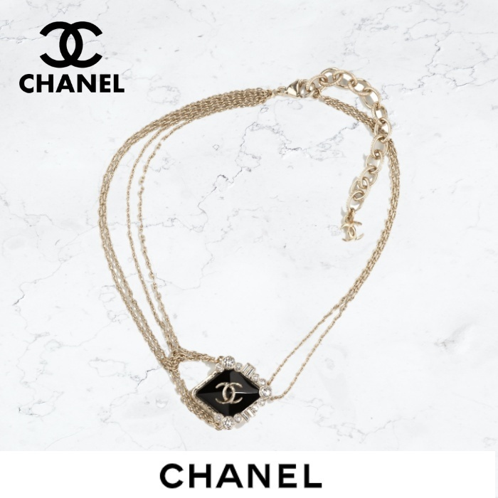 《21AW★》CHANEL ネックレス チョーカー チェーン CC  直営店 (CHANEL/ネックレス・ペンダント) AB6684 B06192 ND234