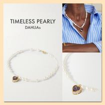 【TIMELESS PEARLY】ハート型クリスタル パールネックレス **