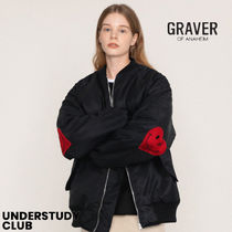 GRAVER(グレーバー) ブルゾン 【GRAVER】3-7日お届け/ Elbow Embroidery Heart Smile Airline