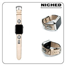 [NICHED] 'Forty-Niner' Silver&Leather Apple Watch Strap