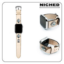 [NICHED] 'Forty-Niner' Turquiose Leather Apple Watch Strap