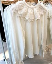 """""""& Other Stories"""" Embroidered Statement Collar Blouse"""