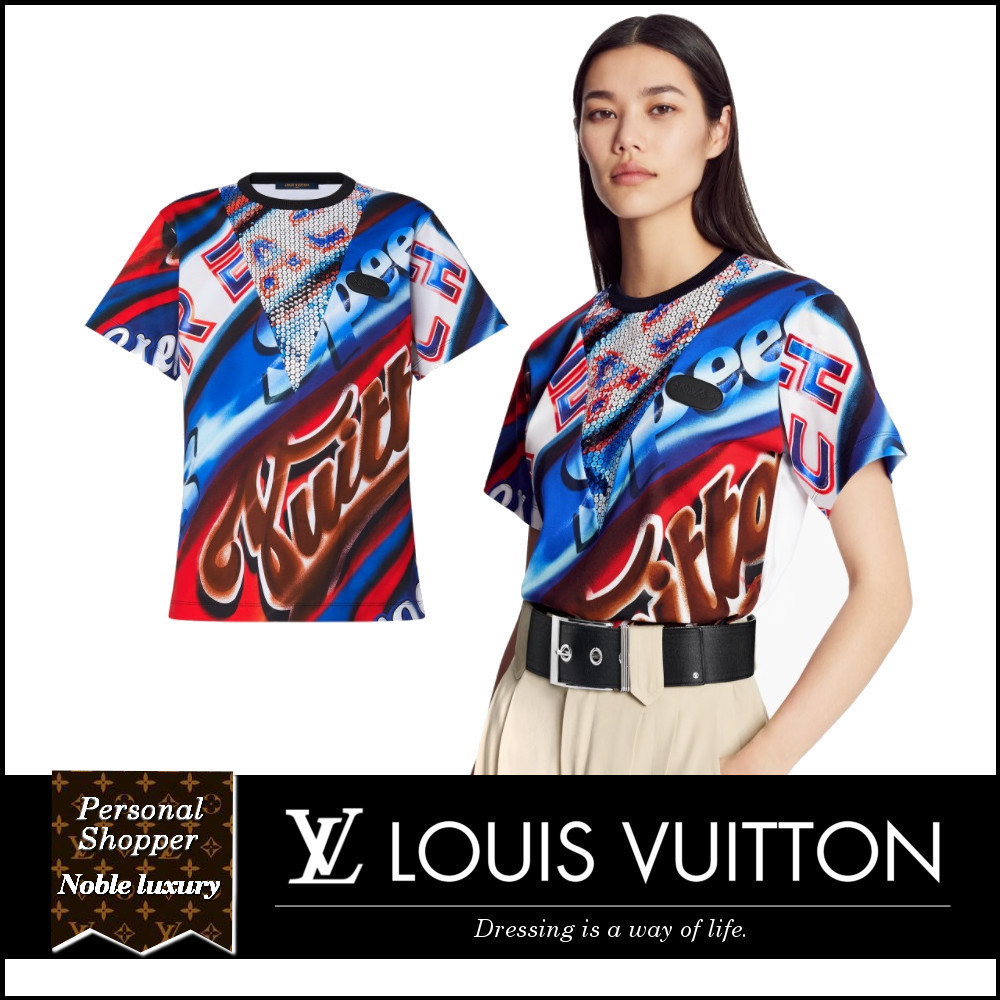 21SS LOUIS VUITTON グラフィックプリントステートメントTシャツ (Louis Vuitton/Tシャツ・カットソー) 70684757