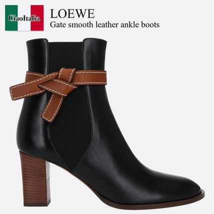 Loewe Gate smooth leather ankle boots